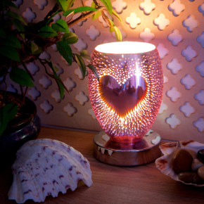 Heart 3D Oval Touch Wax Burner