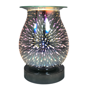 Fireworks 3d lamp silver base