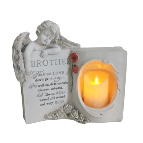 Brother Book Memorial wt Candle, 6/box