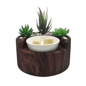 Walnut garden wax burner