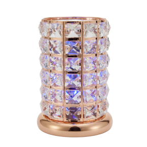 Clear-Rose Gold Crystal LED Lamp