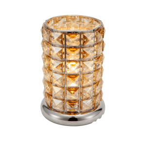 Coffee-Silver Crystal Touch Lamp