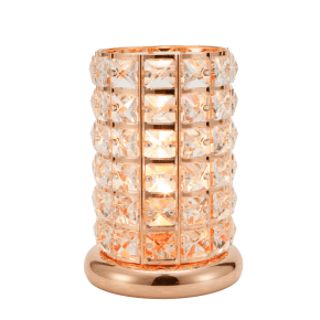 Clear-Rose Gold Crystal Touch Lamp