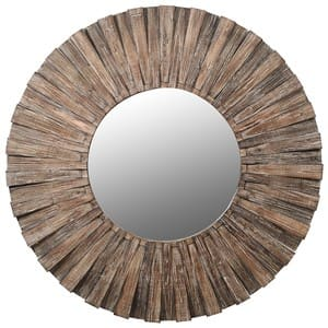 Coach House Fir Wood Round Mirror