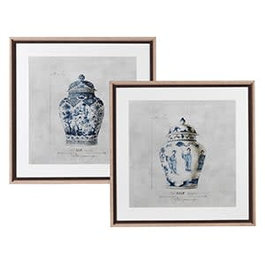 Coach House Set of 2 Chinoisery Urn Pictures