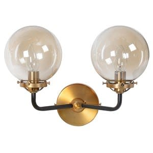 Coach House Smoked Double Ball Wall Sconce