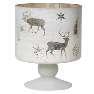 Coach House Reindeer & Snowflake Candle Holder