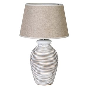 Coach House White Washed Ring Lamp with Shade