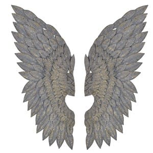 Coach House Pair of Metal Feather Effect Wings