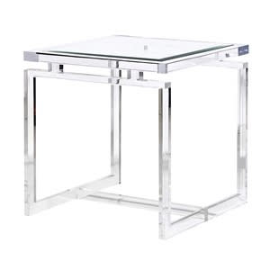 Coach House Glass Top Acrylic Side Table