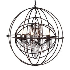 Coach House Metal Sphere Chandelier