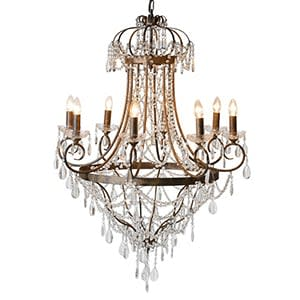 Coach House Large Glass Droplets Chandelier