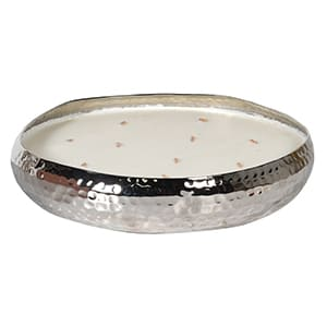 Coach House Large Silver Tubour Rose Candle