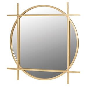 Coach House Gold Round Framed Mirror
