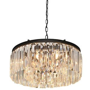 Coach House Round Crystal Chandelier