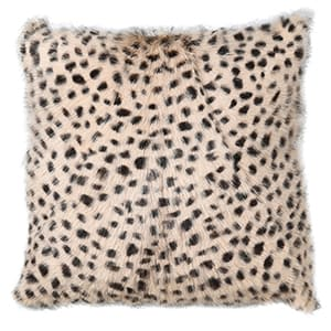 Coach House Leopard Print Goat Fur Cushion Cover