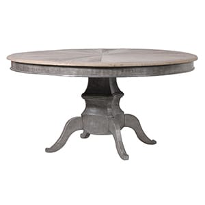 Coach House Elm Parquet Top Round Dining Table