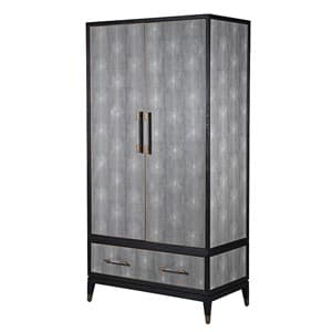 Coach House Kyoto Oak & Shagreen Wardrobe