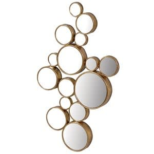 Coach House Gold Finish Fifteen Circles Mirror