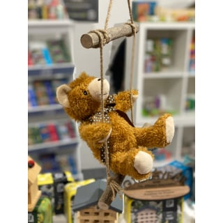 Teddy in a Tin - display sample with swing