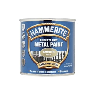 Hammerite Direct To Rust Metal Paint Smooth Gold