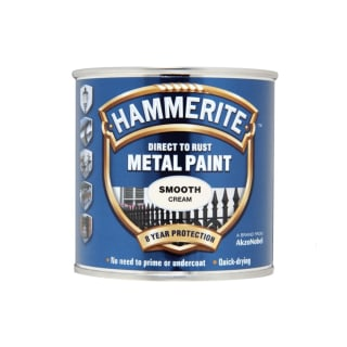 Hammerite Direct To Rust Metal Paint Smooth Cream