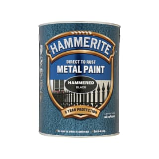 Hammerite Hammered Finish - Black - 5L
