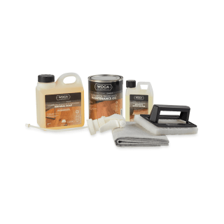 WOCA Maintenance Kit for Oiled Wood Floors - Natural