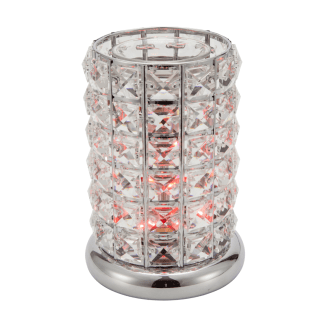 Clear-Silver Crystal LED Lamp
