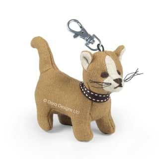 Rice Pudding The Cat Key Ring by Dora Designs