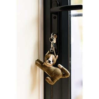 Khaki tabby cat key ring by Dora designs