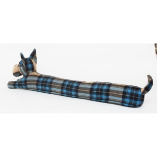 Plaid Scottie dog draught excluder by Dora Designs