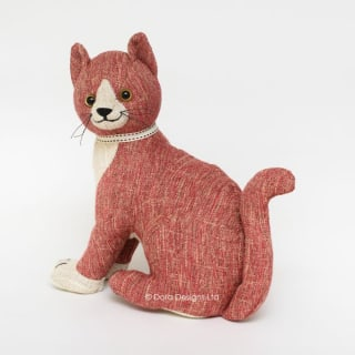 Red Tabby Cat Doorstop by Dora Designs