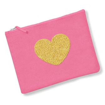 Heart - True Pink, Gold