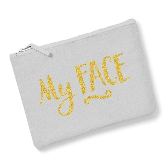 My Face - Light Grey, Gold
