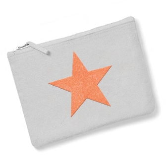 Star - Light Grey, Neon Orange