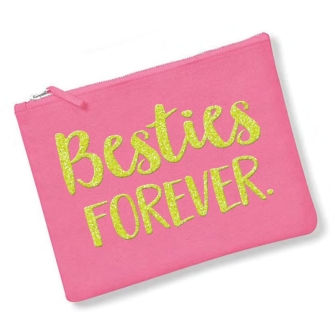 Besties Forever - True Pink, Neon Yellow