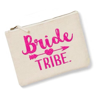 Bride Tribe - Natural, Neon Pink