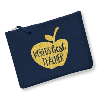 World's Best Teacher - Navy, Gold