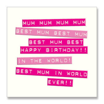 Best Mum Happy Birthday
