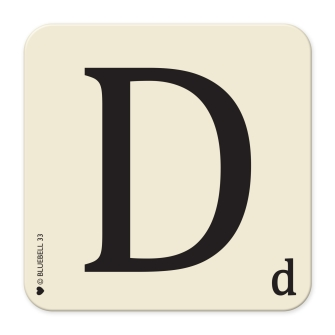 Letter D Table Mat