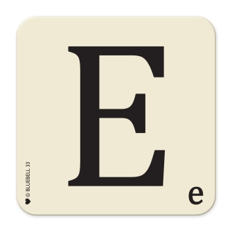 Letter E Table Mat