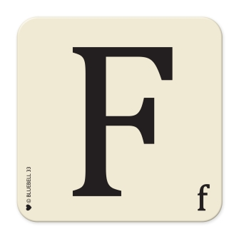 Letter F Table Mat
