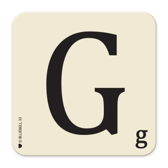 Letter G Table Mat