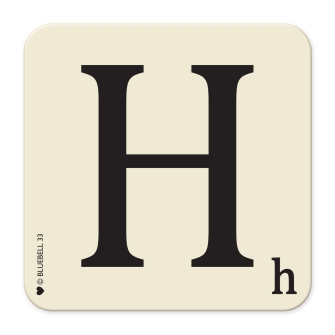 Letter H Table Mat