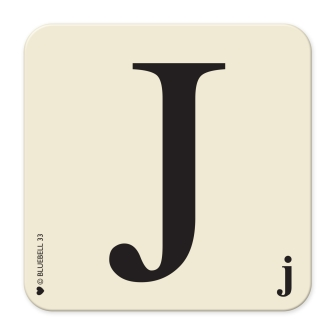 Letter J Table Mat