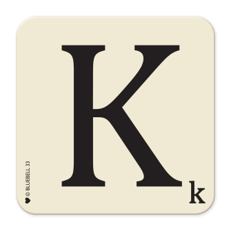 Letter K Table Mat