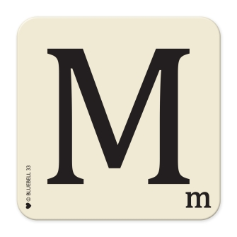 Letter M Table Mat