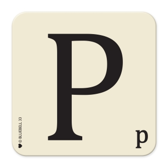 Letter P Table Mat