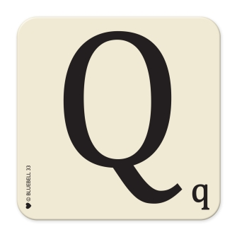 Letter Q Table Mat